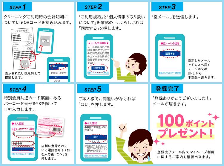 スマホ/携帯電話から登録方法